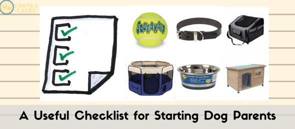 dog parents, dog parenting, dog supply checklist