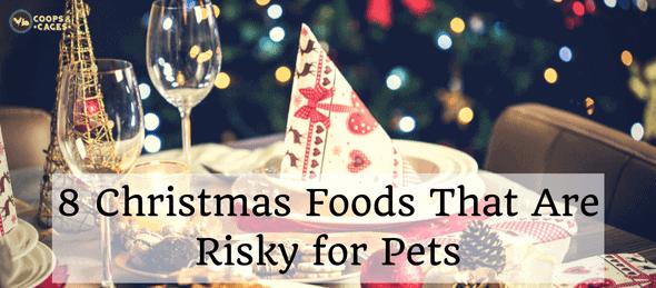 Christmas foods, unsafe pet foods, pets
