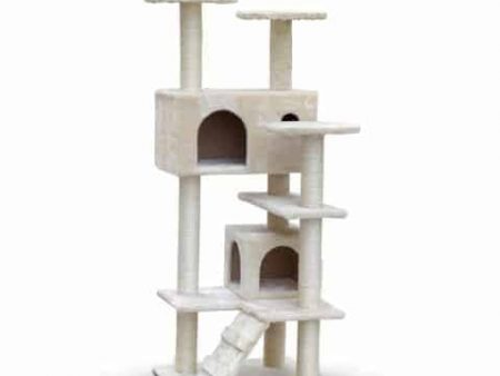 Creme Castle Cat Scratching Post