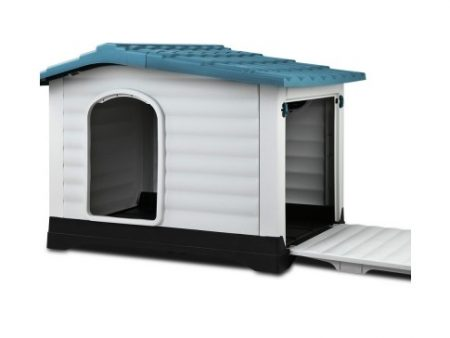 Plastic Blue XL Dog Kennel