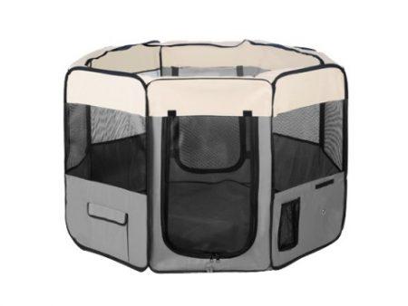Portable Grey Dog Playpen