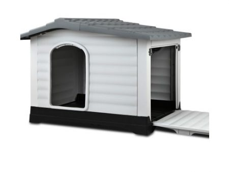 XL Grey Plastic Kennel