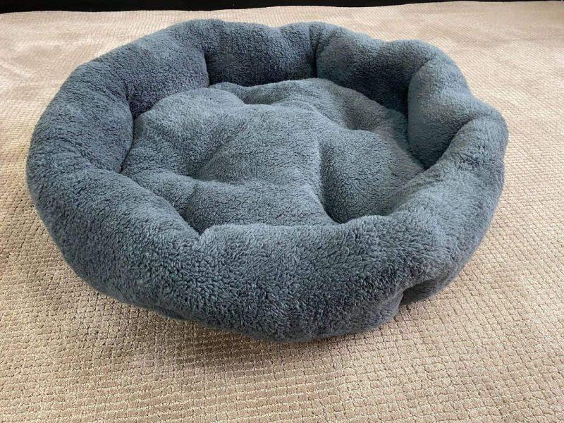 Soft Grey Dog Bed