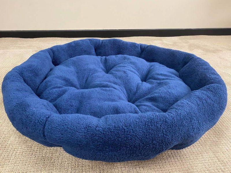 XXL Blue Plush Dog Bed